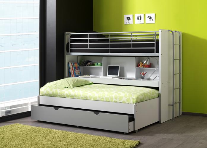 Potrójne łóżko piętrowe Bonny Silver