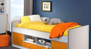 Łóżko dla dzieci i młodzieży z szafkami