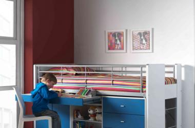 Łóżko piętrowe z szufadami dla dzieci Bonny Blue