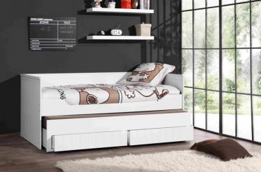 Podwójne łóżko z szufladami