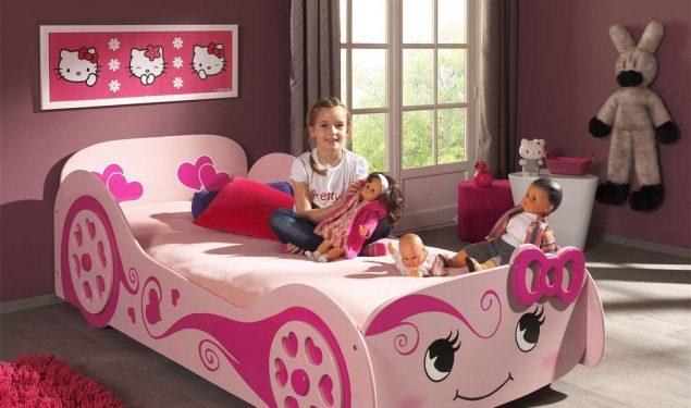 Łóżko dla dziewczynki Pinky