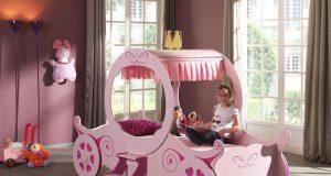Łóżko dla dziewczynki Różowa Kareta