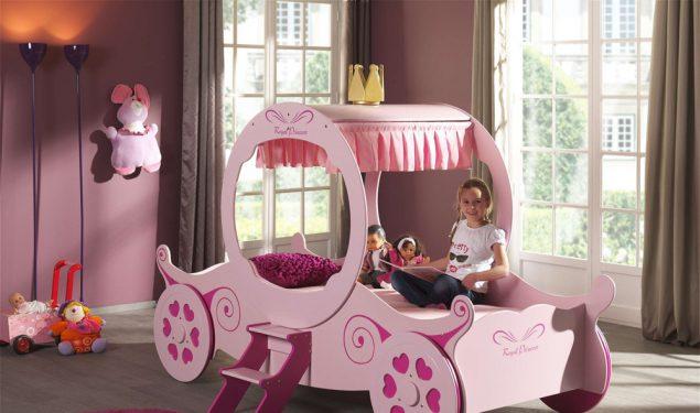 Łóżko dla dziewczynki PinkyŁóżko dla dziewczynki Różowa Kareta