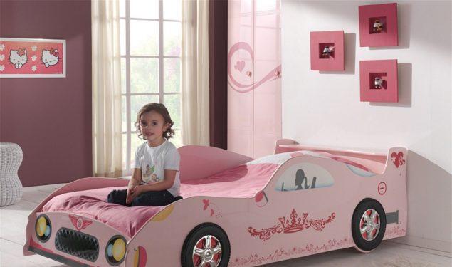Łóżko dla dziewczynki Różowe Auto