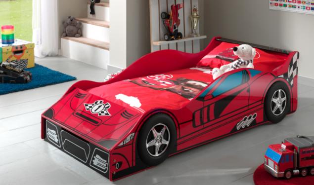 Łóżko dla chłopca Auto Samochód Race Car