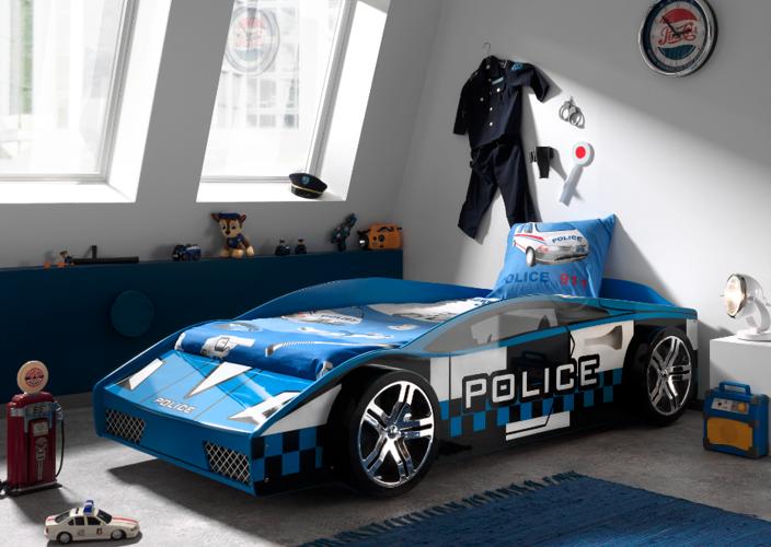 Łóżko dla chłopca Auto Samochód Policyjny