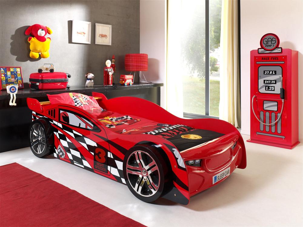 Łóżko dla chłopca Auto Samochód Wyścigowy