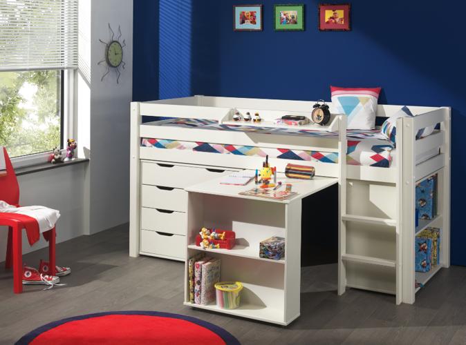 Łóżko piętrowe dla dzieci Pino sosna biała