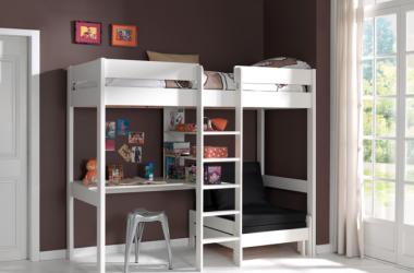 Łóżko piętrowe drewniane dla dziecka