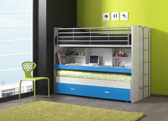 Potrójne łóżko piętrowe Bonny Blue