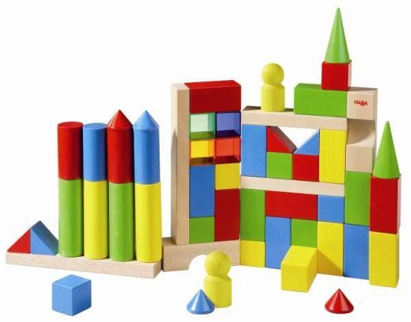 Geometryczne klocki Maxi kolorowe