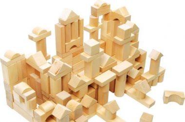 Naturalne klocki drewniane dla dzieci 100 sztuk