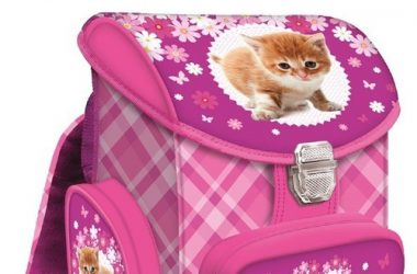 Tornister szkolny Kot dla dziewczynki