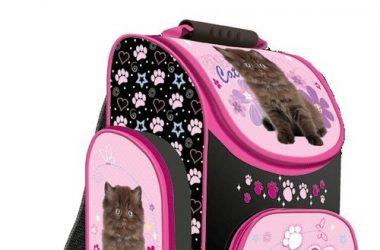 Tornister szkolny Kocham Koty dla dziewczynki