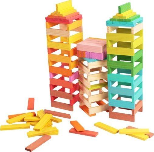 Klocki drewniane dla dzieci kolorowe