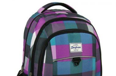 Plecak młodzieżowy pastelowa krata