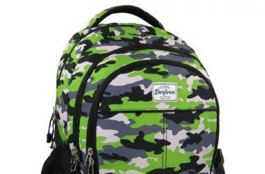 Plecak młodzieżowy zielony moro
