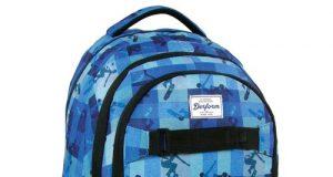Szkolny plecak młodzieżowy niebieska krata