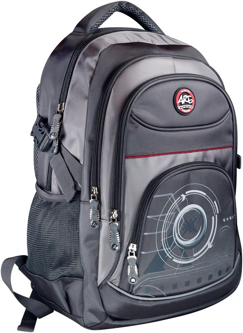 Plecak młodzieżowy 4 kieszenie czarny