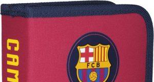 Piórnik pojedyńczy z wyposażeniem FC Barcelona