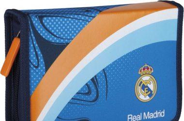 Piórnik pojedyńczy z wyposażeniem Real Madrid