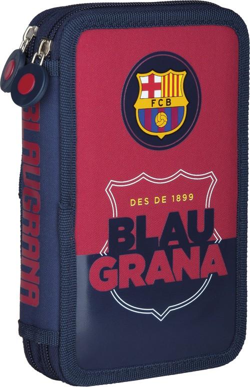 Piórnik podwójny z wyposażeniem FC Barcelona