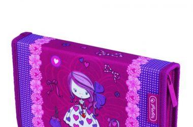 Piórnik z wyposażeniem 19 części Midi Girls Dziewczynka