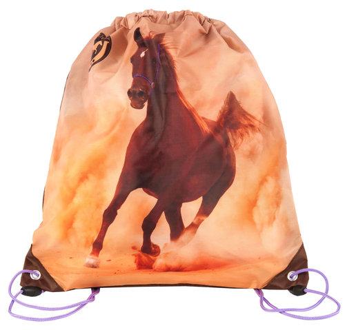 Worek szkolny na buty z koniem