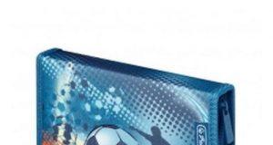 Piórnik dwuklapkowy z wyposażeniem dla chłopców Soccer