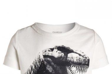 Koszulka bawełniana dziecięca z dinozaurem
