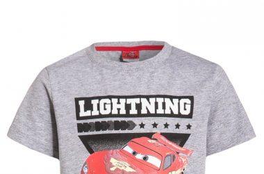 Koszulka dla chłopca Auta Cars szara