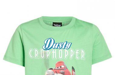 Bawełniana koszulka na lato dla chłopca samoloty zielona