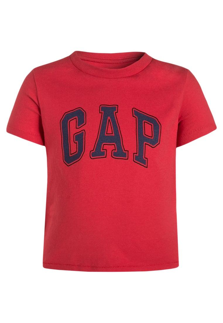 GAP T-shirt z nadrukiem krótki rękaw czerwony