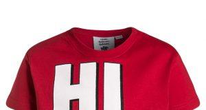 Bawełniana koszulka na lato dla chłopca smerfy czerwona