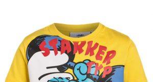 Bawełniana koszulka na lato dla chłopca smerfy żółta