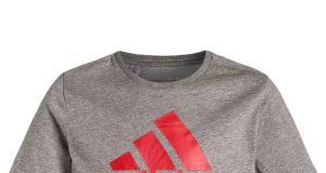 Koszulka t shirt dziecięcy na lato Adidas szary