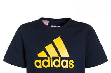 Koszulka t shirt dziecięcy na lato Adidas granatowy
