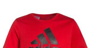 Koszulka t shirt dziecięcy na lato Adidas czerwony