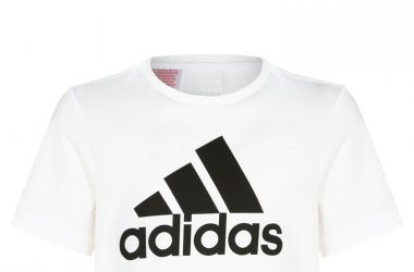 Koszulka t shirt dziecięcy na lato Adidas biały