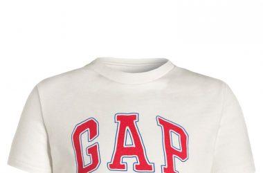 GAP T-shirt z nadrukiem krótki rękaw biały