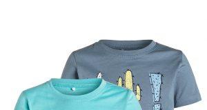 Bawełniany dziecięcy T-shirt krótki rękaw 2-pak