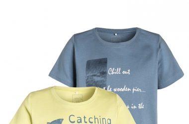 Bawełniany dziecięcy T-shirt krótki rękaw 2-pak lato