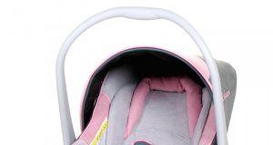 Samochodowe foteliki dla niemowląt szaro różowy