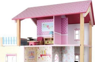 Wspaniały domek dla lalek z balkonem