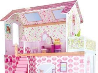 Duży domek dla lalek Villa dla dziewczynki