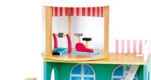 Variable drewniany domek dla lalek z siłownią