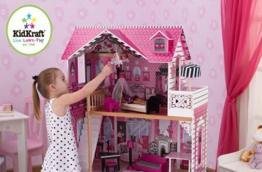 Duży domek dla lalek barbie piętrowy drewniany Amelia