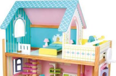 Willa Drewniany domek dla lalek z mebelkami