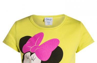 Bawełniana bluzka dla dziewczynki Disney Minnie żółta