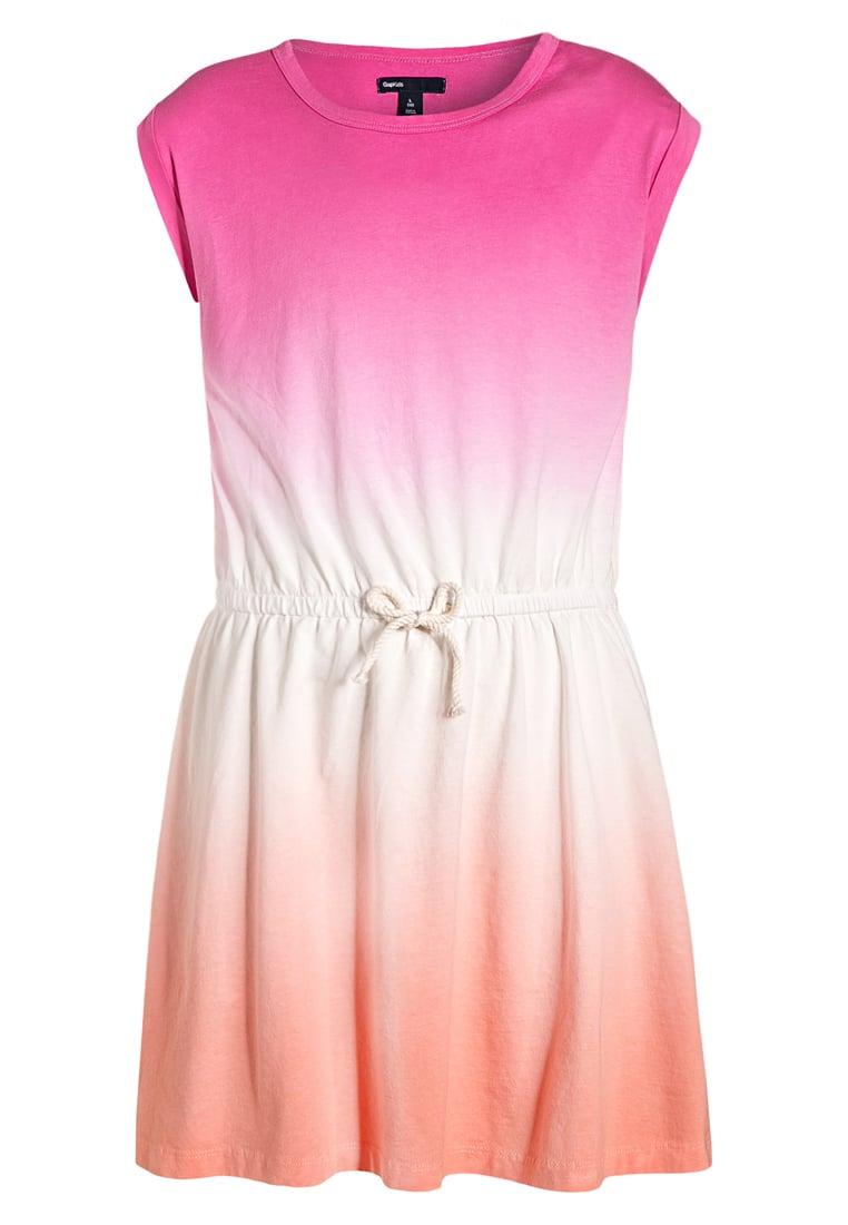 Letnia sukienka dla dziewczynki wiązana w pasie kolorowa